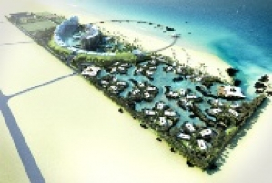 Beach resort development located 90 km north of Baku